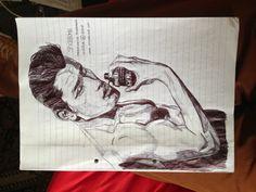 Spice bomb - The Explosive fragrance :D #drawing #art #illustration #pen #male #model #muscle #fineart