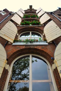 Open windows, Amsterdam, Netherlands