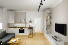 kawalerka dla młodych ;-) - zdjęcie od Archomega Biuro Architektoniczne - Salon - Styl Skandynawski - Archomega Biuro Architektoniczne