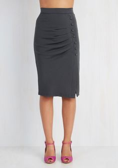 New Arrivals - A Trip into Town Skirt in Charcoal