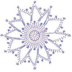 snowflake crochet 293 schema                                                                                                                                                                                 Mehr
