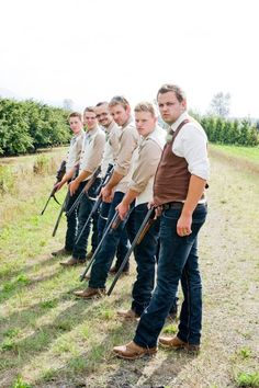 Picture ideas for cowboy groomsmen.