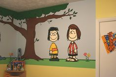 Awesome room idea!!! Charlie Brown and friends