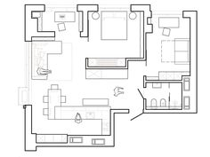 Roohome.com - If you want to make your small apartment design looks elegant and feel comfortable. You must follow Nott Design ideas. They make a small space become interesting by applying the light interior style. Besides that, it also applies neutral color paint like gray, and light brown that looks so beautiful. It ...