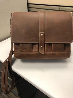 Attache Mens Leather Messenger Bag  78cbb0a4d55d0