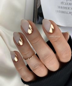 Shiny Nails, Silver Nails, Fancy Nails, Acrylic Nails Nude, Cute Acrylic Nail Designs, Modern Nails, Fire Nails, Minimalist Nails, Dream Nails