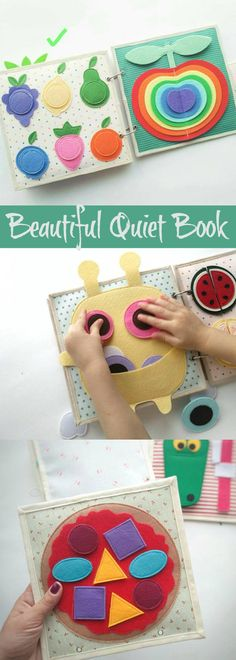 Another adorable activity book by BabyBookShop #quietbook #affiliate