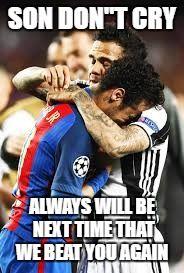 neymar cry against juventus