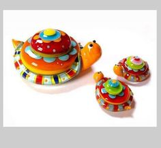 Turtle Lampwork Critter Beads by Carla di Francesco...