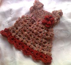 Fall Baby Dress  crochet autumn baby outfit  in by paintcrochet, $30.00