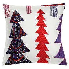 Marimekko Kuusikossa cushion cover 45 x 45 cm, light grey - red - blue, designed by Maija Louekari. Helsinki, Textile Prints, Textiles, Fabric Design, Pattern Design, Square Deal, Marimekko Fabric, Design Competitions, Pillow Sale