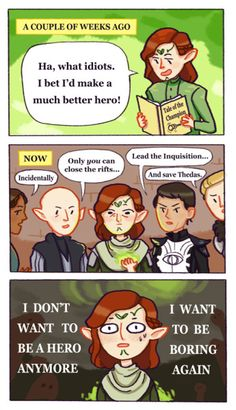 """...in which Lavellan reads 'Tale of the Champion' and learns to """"be careful what you wish for."""" XD"""