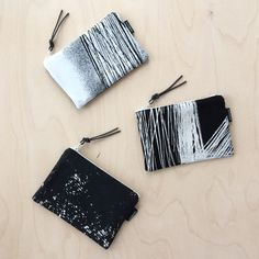 New in shop. Black and white smartphone cases. Made from recycled fabric samples.