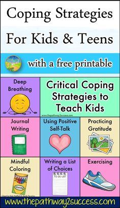 Coping strategies are the skills and tools to help kids and teens manage stress and tough emotions. Practice strategies like deep breathing, journal writing, practicing gratitude, mindful coloring, and more. Anger Management For Kids, Stress Management Activities, Coping Skills, Social Skills, Social Work, Life Skills, Resource Room Teacher, Improve Confidence, How To Handle Stress