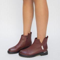 Ghete Maluma Grena Chelsea Boots, Ankle, Shoes, Fashion, Moda, Zapatos, Wall Plug, Shoes Outlet, Fashion Styles