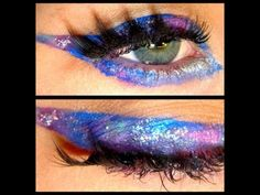 Galaxy Eyeliner Makeup Tutorial