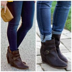 How to wear ankle boots: pant leg in and out. Click through for more great fashion tips and ideas for this Winter! Womans Fahion & Fashion over 40  Jo Lynne Shane