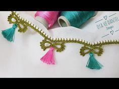 Crochet Edging Patterns, Crochet Borders, Baby Knitting Patterns, Beginner Crochet Projects, Crochet For Beginners, Needle Lace, Tassel Necklace, Iphone Wallpaper, Tassels