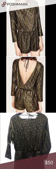 Zara sequin jumpsuit S New, unworn. Size S. Leave me a comment if you have any question. Thank you (: Zara Dresses