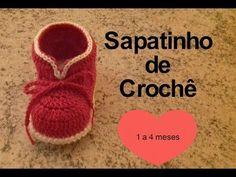 Sapatinho de Crochê Mirelle Bebê | 1 à 3 meses | Parte 2 | Simone Eleoterio - YouTube                                                                                                                                                                                 Mais