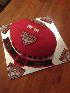 AFL Essendon football cake.