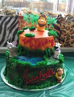Cake at a Jungle Party #jungle #partycake
