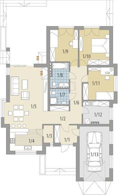 Building Plans, Building Design, Building A House, Modern House Plans, House Layouts, Planer, Beautiful Homes, Sweet Home, Floor Plans