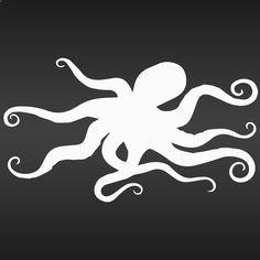 Amazon.com - Octopus Decal Sticker (white, 8 inch) - Wall Decor Stickers