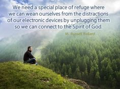 May 2014 CES Devotional https://www.lds.org/church/news/viewpoint-seek-the-temple-as-a-refuge-from-the-storm?lang=eng