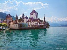 Oberhofen Castle. Switzerland. http://victortravelblog.com/2015/03/11/castles-in-switzerland-oberhofen-castle/