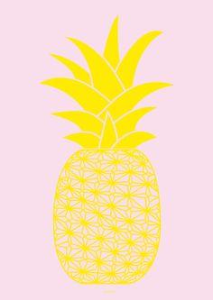 Ananas baby pink Art Print