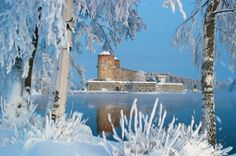 Fairytale scenery of Olavinlinna castle in Savonlinna, Finland Helsinki, Places To Travel, Places To Visit, Tom Of Finland, Sea Colour, Light Spring, Landscape Pictures, My Land, Spring Colors