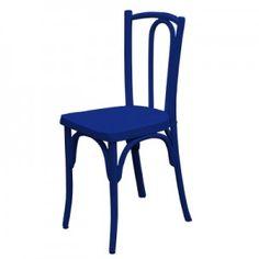 Cadeira Austríaca Azul - 0,37 x 0,35 x 0,84m (CxLxh)