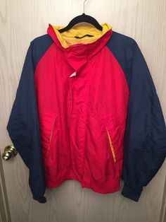 Vintage Color Block Field And Stream G&F Tommy Hilfiger Red Polo Sailing Jacket #FieldStream #Windbreaker