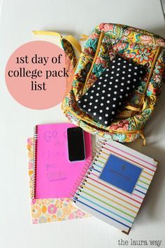 1st day of college Pack List