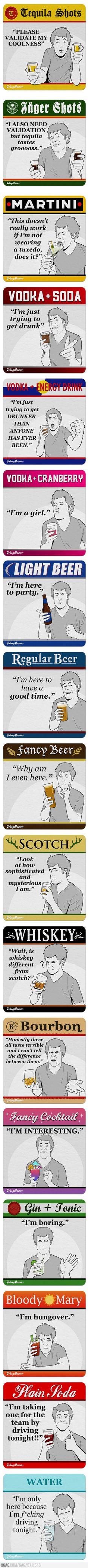 What You're Saying With Your Choice of Drink    SOOOOOOOOOO FUNNY!!!!