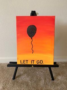 Let it go Canvas Painting Canvas Painting Kids, Simple Paintings On Canvas, Cute Easy Paintings, Disney Canvas Paintings, Sad Paintings, Disney Canvas Art, Easy Canvas Art, Wine Painting, Small Canvas Art