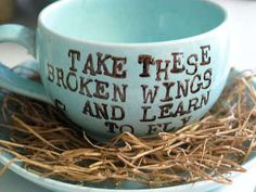 Take these broken wings and learn to fly.