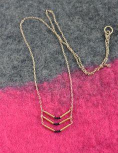DIY Necklace  : DIY Triple Chevron Necklace