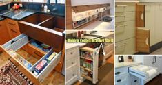 28 Hidden Storage Spots Your Kitchen Might Have Board Home Decor Kitchen Cabinet Narrow Open Cabinet Open Cabinets, Kitchen Cabinets, Best Front Doors, Kitchen Trash Cans, Thrifty Decor Chick, Kitchen Trends, Tidy Up, Hidden Storage, Home Decor Kitchen
