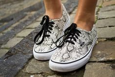 Girl in #Vans Authentic Snake Skin #sneakers @Sheena Akbal i see you rocking these...