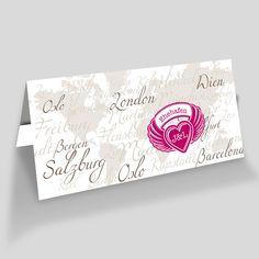 Einladungskarten zur Hochzeit mit Weltkarte. Hochzeitseinladungen für Globetrotter Ticket, Globetrotter, Boarding Pass, Card Wedding, Marriage, World Wide Map