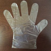 sterile pe disposable gloves/folded pe glove