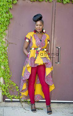 Rahyma Mustard Koko High low Dress Jacket