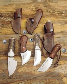 Piranha Mouse Gazapo Muela knives, hunting knives. The knives I am making are very similar to these Katrina.