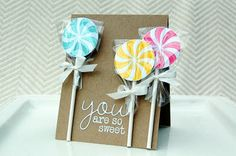 You are so sweet card by Jessica Witty for Papertrey Ink (September 2011).