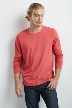 Earnest Long Sleeve Tee, Velvet by Graham & Spencer. http://velvet-tees.com/earnest-heather-jersey-long-sleeve-tee.html