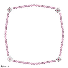 frame from pink gems png by Melissa-tm