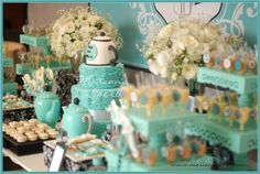 Paleta de cores Azul Tiffany - Cha de Panela
