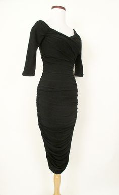 Marilyn Monroe Black Cocktail Dress   Catnip Reproduction Vintage Clothing